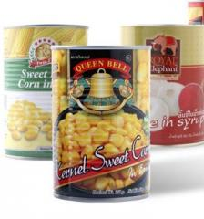 Canned corn from Thailand.