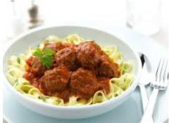 Pork meat Ball in tomato & Cream Sauce