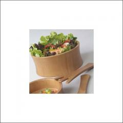 2 pieces of salad bowl with server