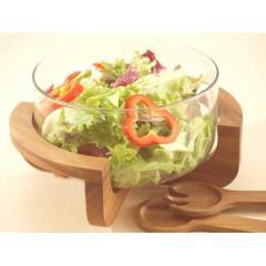 Glass Salad Bowl Set