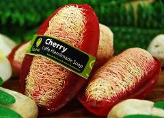 Cherry Luffa Natural Handmade Soap