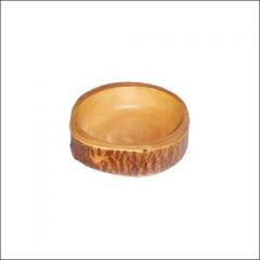 Wooden bowl is handmade