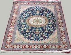 Blue Qum Silk Carpet