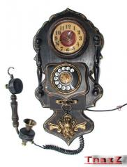 Wall Phone with Clock