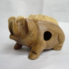 Wooden Croaking Pigs