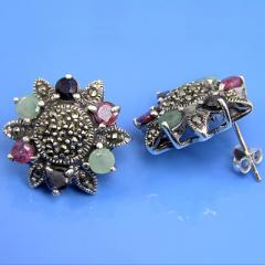 925 Sterling Silver Natural Marcasite &