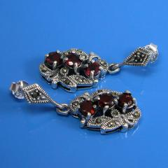 925 Sterling Silver Marcasite Natural Gemstone