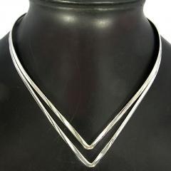 925 Sterling Silver Fancy V- Style Choke