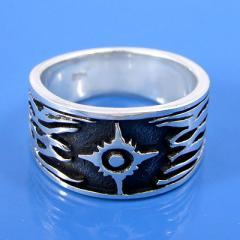 925 Sterling Silver Tribal Design Ring