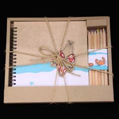 Notebook with Color Crayon Gift Set