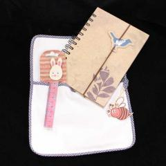 Notebook with Bookmark Ruler Set