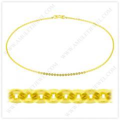 NM-0002-5BAHT Real 23k Baht Gold Polished Short