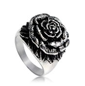 Brass Ring Fabulous Rose silver plate.