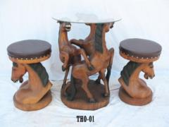Horse table with chairs