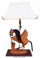 Horse style lamp, brown