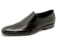 Mens loafers, Black Shera Leather