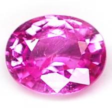 Sapphire, Oval Facet Cut Pink