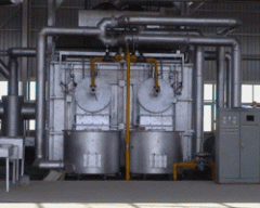 Gas fired melting furnace