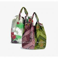 Reversible Batik Shopping Bag
