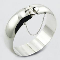Precious Highly Polished Plain 925 Sterling Silver