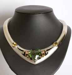 Chokers Sterling Silver with Cubic Zirconia H1K