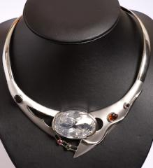 Chocker Sterling Silver with Cubic Zirconia H5K