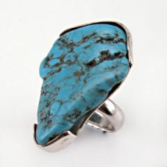 Ring Sterling Silver with Turquoise H13R.01