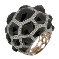 Ladies Black Spinel Ring
