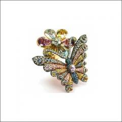 Semi-Precious Stones Butterfly Ring