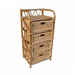 Rattan drawer