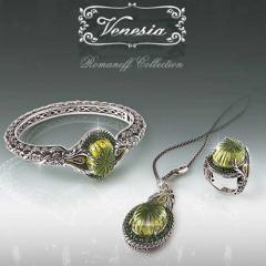 Gold Gemstone Jewelry Set