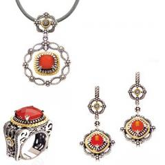 Silver and Gold Jewelry Set