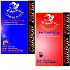 Carbon paper for hand writing (blue, red, white,
