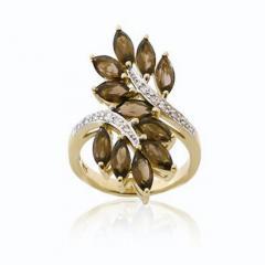 Brown Semi-Precious Stone Ring