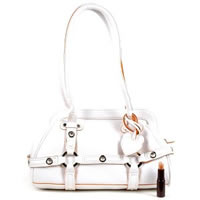 Women's White Medium Handbag 002