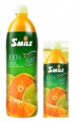 Juice from fresh orange