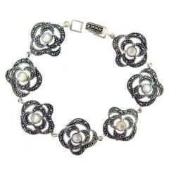 Flowers Silver Bracelet