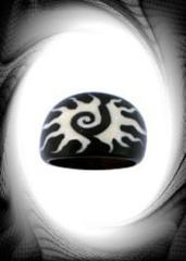 RG 0164 Spiral sun horn ring