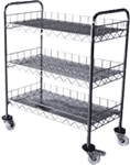 Stainless Wire Shelves Trolley