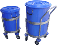Stainless Garbage Trolley