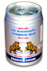 Energy drink commando bear brand in can