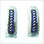 Surasi Siam earrings 02 with 18 blue sapphire