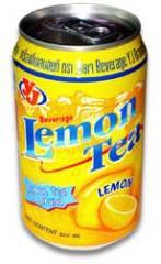 Lemon tea beverage in can