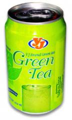 Green tea in can