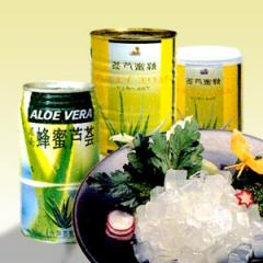Canned Aloe Pulp with Honey in Syrup, Aloe Vera