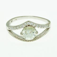 Silver Ring with Zircon R0249