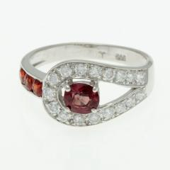 Silver ring with orange sapphire R0248