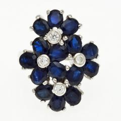 Silver ring with blue sapphire R0235