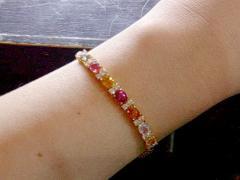 Fancy sapphire bracelet with diamond 4002a
