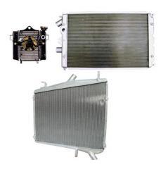 Stamp-tank aluminum radiators